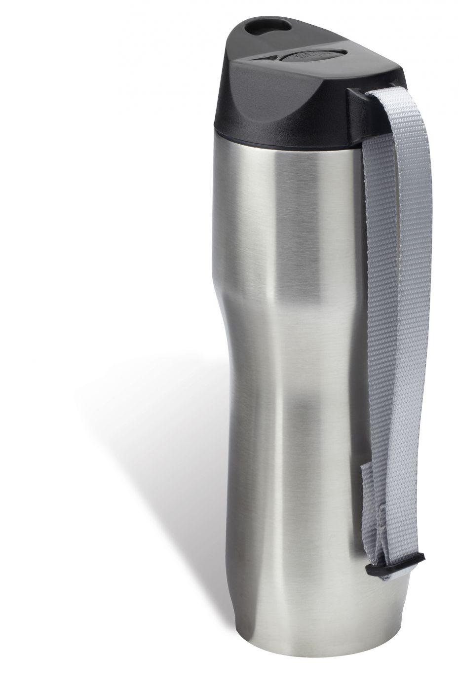 thermoskanne mit trinkverschluss edelstahl nylon silber schwarz reflects ebay. Black Bedroom Furniture Sets. Home Design Ideas