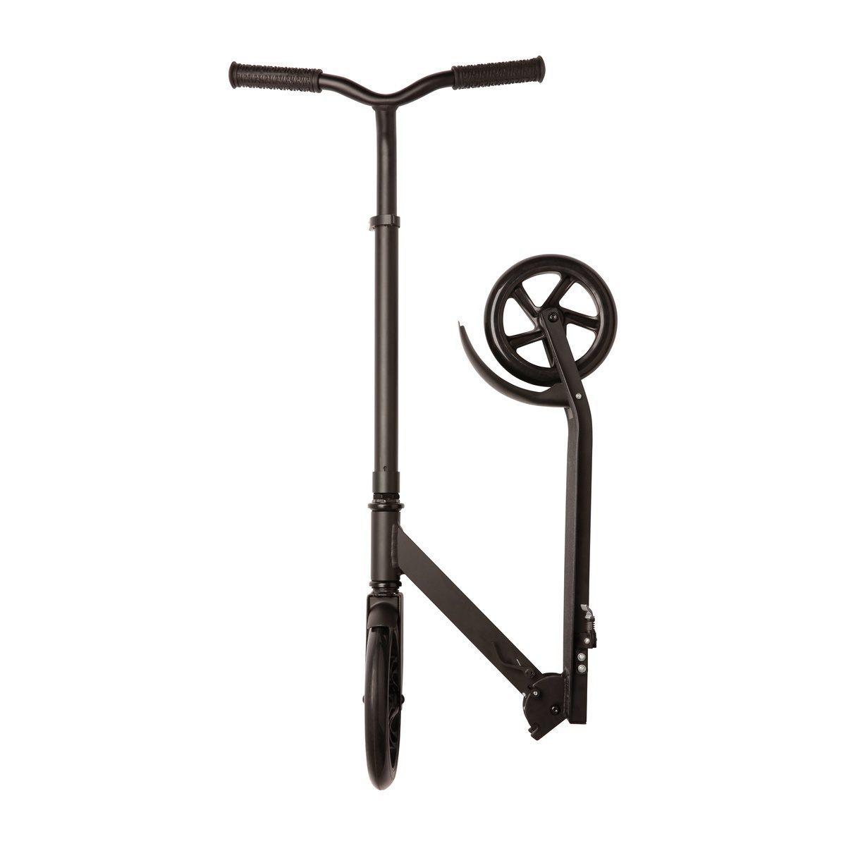 fun scooter roller tretroller bis 100 kg belastbar schwarz aluminium reflects ebay. Black Bedroom Furniture Sets. Home Design Ideas